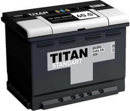 Аккумулятор Titan (Титан) Standart 6СТ-60.0 VL Обратная полярность